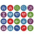 collection round dotted icons user interface vector image vector image