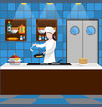 cooking people composition vector image vector image