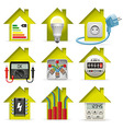 Electricity Home Icons vector image vector image