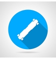 Flat icon for longboard vector image vector image