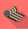 floor heater equipment icon flat style vector image