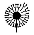 forest dandelion icon simple style vector image vector image