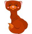 Fun zoo Mink vector image vector image