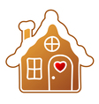 Gingerbread Home vector image