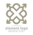 gray element arrow letter design symbol icon vector image