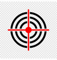 gun target icon vector image vector image
