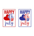 happy 4th july beautiful lettering vector image vector image