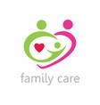 hearth family care logo vector image vector image