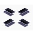 Isometric generic black smartphone vector image vector image