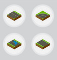 isometric road set of plash without strip vector image vector image