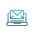 laptop computer email message communications vector image