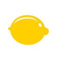 lemon citrus fruit icon bright art vector image vector image