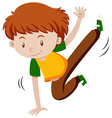 Little boy doing breakdancing vector image vector image