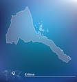 Map of Eritrea vector image vector image