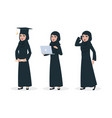 modern arab woman character muslim woman vector image vector image