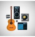 Music icon design vector image vector image