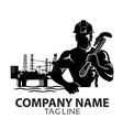Oil Rig Company Logo vector image vector image