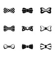 papillon icons set simple style vector image