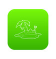 pirate island icon green vector image vector image