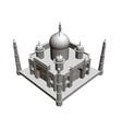 polygonal building model taj mahal 3d vector image vector image