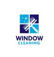 Professional window cleaning washing service logo