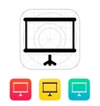 Projector screen icon vector image vector image