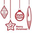 red christmas balls garland vector image vector image