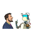 robot teacher distance education during the vector image