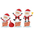 santa going in the chimneys vector image