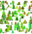 seamless chaotic winter holiday background - pine vector image vector image