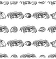 seamless pattern sketches sea lobsters vector image