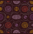 seamless pattern with cloth sewing buttons in vector image vector image