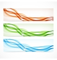 set colorful banners with curved lines vector image vector image