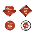 Set of kitchen chief badges vector image