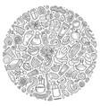 set of massage salon doodle objects vector image