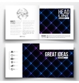 set of square design brochure template vector image