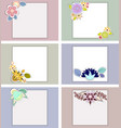 set of templates for weddingbirthday vector image vector image