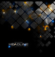 shiny glowing technology background with squares vector image