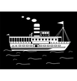 Silhouette little retro ship vector image vector image