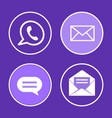 social network phone set icons vector image vector image