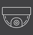 surveillance camera line icon cctv and security vector image