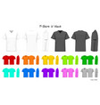 t-shirt v neck color collection set for your vector image vector image