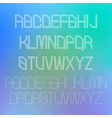 Thin alphabet design eps10 vector image