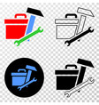 toolbox eps icon with contour version vector image