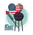 usa independence day card with fast food vector image vector image