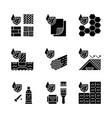 waterproofing glyph icons set vector image