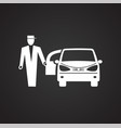 wedding car icon on black background for graphic vector image