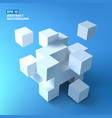 white cubes bunch background vector image vector image