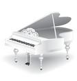 white grand piano vector image vector image