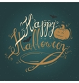 with text Happy Halloween vector image vector image